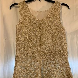 **GORGEOUS** Metallic gold lace dress